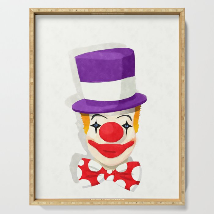 Smiling clown Serving Tray