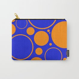 Bubbles And Rings In Orange And Blue Carry-All Pouch