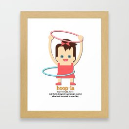 Hoopla Hula Hoop Brunette Framed Art Print