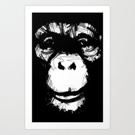 Everything's More Fun With Monkeys! Art Print
