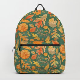 Give Thanks Turquoise Backpack