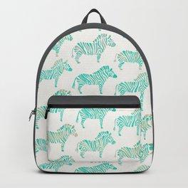 Zebras – Mint Palette Backpack