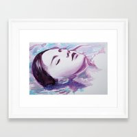 siren Framed Art Prints featuring Siren by Arielle Walker