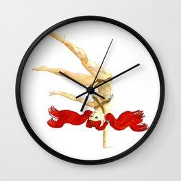 Pin up Alt Model Girls Short Hair Handstand Suicide Pinups Wall Clock