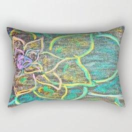 Vibrant Flower Rectangular Pillow