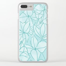 Hydrangea Bunch Clear iPhone Case