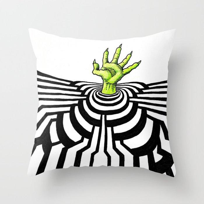 Ripplescape #1 Throw Pillow