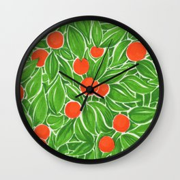 Citrus pattern Wall Clock