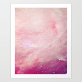 Cotton Candy Galaxy Art Print