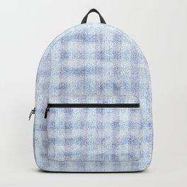 Pale Foam Blue Gingham Faux Suede Design Backpack