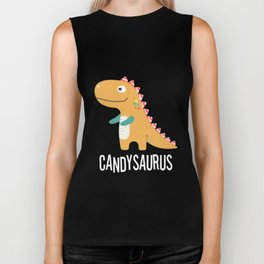 Cute Fun Halloween Dinosaur Candy Corn T Shirt Biker Tank