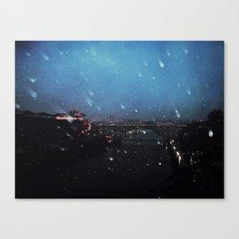 winter in oporto Canvas Print