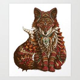 Red Fox (Color Version) Art Print