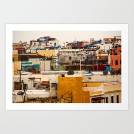 Old San Juan Buildings Art Print