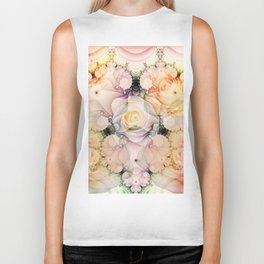 Swirling shapes and Romantic Roses Biker Tank