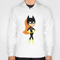 batgirl Hoodies featuring Batgirl by Adrian Mentus