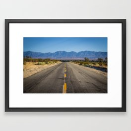 Desert Road Framed Art Print