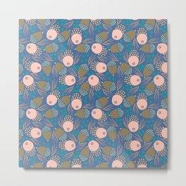 November Born - acorn pattern Metal Print