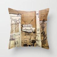 bauhaus Throw Pillows featuring Bauhaus by Mike Oncley