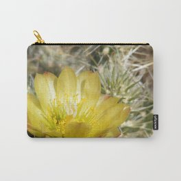 Silver Cholla Cactus Flower Carry-All Pouch