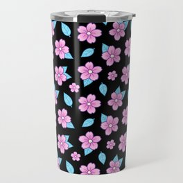 Sakura // Black Travel Mug