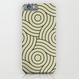 Circle Swirl Pattern Muted Green Inspired By Natural Olive Green - Martinique Dawn - Asian Silk iPhone Case