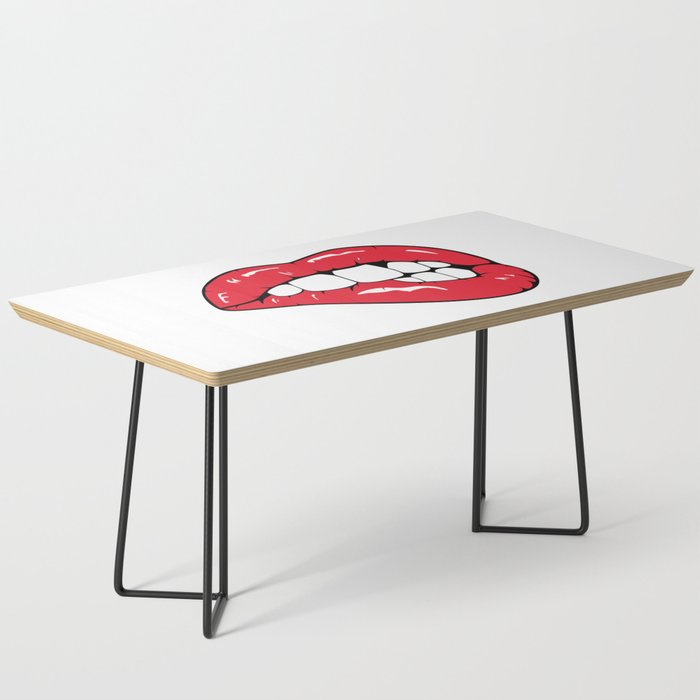 Red Lips Pop art Coffee Table