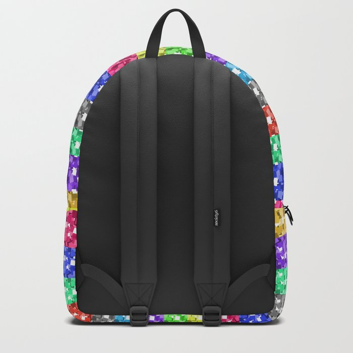 Pixelated colors Backpack
