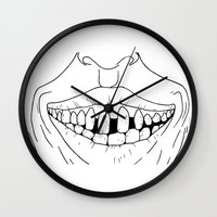 dentist Wall Clocks featuring Desire for Dentist? by Martin Stolpe Margenberg