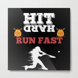 Motivating Baseball Player Saying Metal Print
