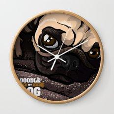 Miss Finn (Baby Pug) Wall Clock