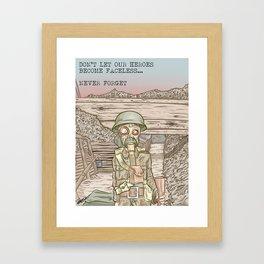 World War One Centenary Framed Art Print