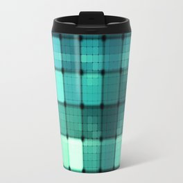 Techno Aqua Pattern Travel Mug