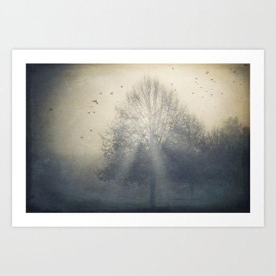 Foggy Novemberday Art Print