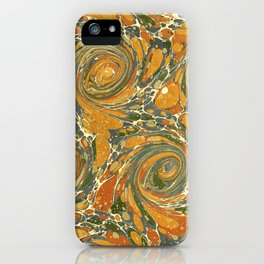 Old Marbled Paper 03 iPhone Case