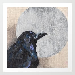 The Silvery Moon Art Print