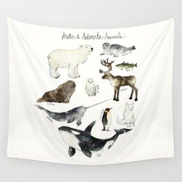 Arctic & Antarctic Animals Wall Tapestry
