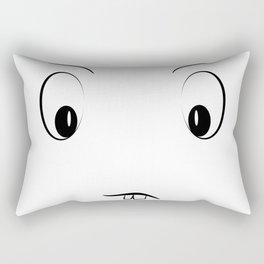 Funny cartoon face Rectangular Pillow