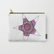 Pink Superstar Mandala Star Carry-All Pouch
