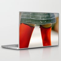 socks Laptop & iPad Skins featuring Red Socks by Premium