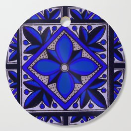 talavera mexican tile in blu Cutting Board