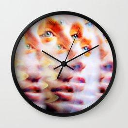 Eyes like Butterflies Wall Clock