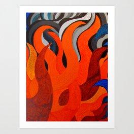 Battle of the Elements: Fire Art Print