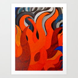 Battle of the Elements: Fire Art Print