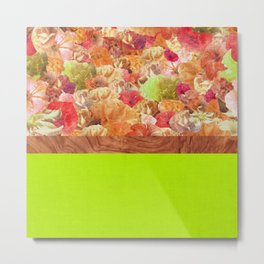 Layers Floral Lime Metal Print
