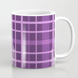 Plaid in black and purple colours . Coffee Mug
