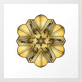 Art Deco Mandala Art Print