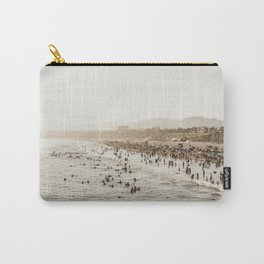 People Watching Santa Monica,California Carry-All Pouch