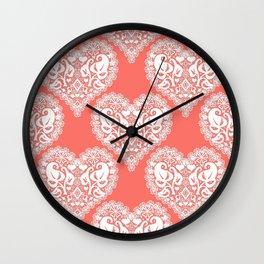 Lace heart Wall Clock