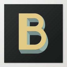 Type Seeker - B Canvas Print